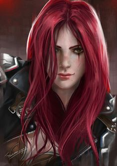 f Ranger Med Armor Sword portrait scar traveler Katarina Du Couteau League Of Legends Poster, Champions League Of Legends, Lol League Of Legends, Fantasy Women, Fantasy Girl, Fantasy Characters, Female Characters, Anime Redhead, Broly Ssj3