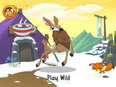 my animal jam deer SO FAR i did 2 artic wolfs LOL