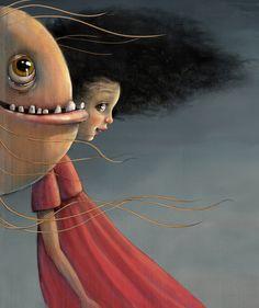 Lisa Aisato - En Fisk til Luna Gouache Painting, Diy Painting, Master Of Fine Arts, Children's Picture Books, Little Monsters, Doodle Art, Art Forms, Illustrators, Fairy Tales