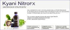 """Kyani NitroFX è una miscela di concentrato della pianta de Noni che ha dimostrato, in laboratorio, di aumentare la produzione di ossido nitrico (NO) nel nostro corpo. Conosciuta anche come """"la molecola della vita"""", le riparazioni della molecola di Ossido Nitrico difendeno e mantengono ogni cellula del corpo. Ampiamente studiata da ricercatori e medici, l'ossido nitrico è stato http://www.reteimprese.it/arpaiabenessere    - http://www.aulettabenessere.kyani.net"""