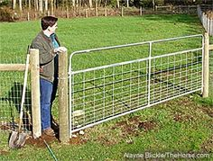 small gap in fencing to let you through, but not the 4 legged