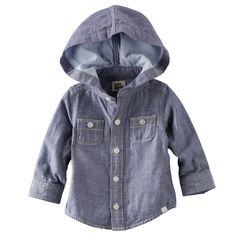 Hooded Chambray Shirt OshKosh B'gosh