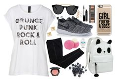 """""""Girl You're a Bo$$!"""" by elizabeth4ever ❤ liked on Polyvore featuring COSTUME NATIONAL, NIKE, Casetify, Smoke & Mirrors, H&M, Urban Decay, Eos, Wet Seal and adidas"""