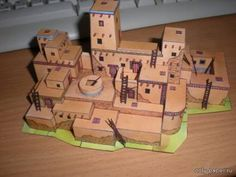 """Indian Village / Indianske Pueblo (ABC 02/1992) of paper, paper model, free download - Diorama - Architecture - Product model - """"Only the paper"""""""