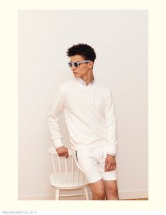 Timo Weiland Does Casual Stripes + Solid Fashions for Spring 2015 Collection image Timo Weiland Spring Summer 2015 Collection Look Book 008