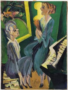 Ernst Ludwig Kirchner. Musikzimmeer II. Hannover. Sprengel. 1915. 020514