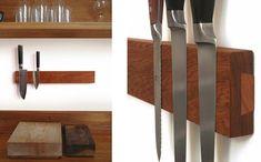 Magnetic wood knife board