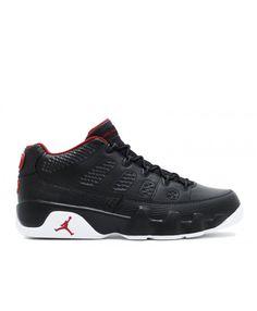 low priced 2c44b 768c5 Air Jordan 9 Retro Low Bred Black Gym Red White 832822 001