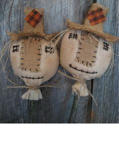 Primitive Scarecrow Pokes for CrocksBaskets Buckets by annattic1