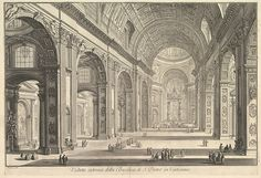 Giovanni Battista Piranesi | Interior view of St. Peter's Basilica in the Vatican, from Vedute di Roma (Roman Views) | The Met