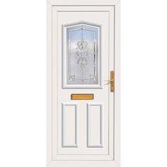 Image of External Upvc Melfort Paladin Door  sc 1 st  Pinterest & External UPVC Dundee Half Panel - Crystalline Glass Door | Dundee ...