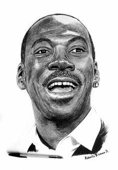 Art by Roberto Bizama Eddie Murphy Eddie Murphy, Art Sketches, Art Drawings, Art Visage, Realistic Pencil Drawings, Black Art Pictures, Desenho Tattoo, Celebrity Drawings, Black And White Drawing