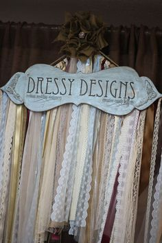 Love the garland and the sign. Wedding Wishes, Our Wedding, Wedding Stuff, Wedding Ideas, Burlap Projects, Diy Projects, Ribbon Curtain, Ribbon Garland, Cute Bedroom Ideas