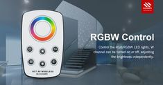 When we control RGBW LED lights with Euchips self-developed remote controls, W-channel can be opened or closed separately; if closed, you can adjust the brightness. #remotecontrol #euchips