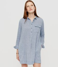 Primary Image of Lou & Grey Doubleface Chambray Shirtdress