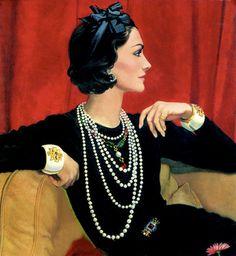 Illustrazione di Coco Chanel