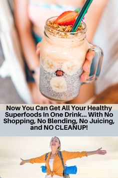 In just 30 Seconds a Day, You Can Supercharge Your Life, Restore Glowing Good Health and Feel Decades Younger Nutritious Smoothies, Easy Smoothies, Nutritious Meals, Healthy Fats, Healthy Life, Smoothie Recipes, Chia Seed Smoothie, Smoothie Bowl