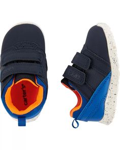 Carter's Every Step Sneakers | carters.com Cute Sneakers, Baby Sneakers, Shoes Sneakers, Boy Shoes, Crib Shoes, Toddler Outfits, Boy Outfits, Baby Boy Accessories, Baby Boy Swag