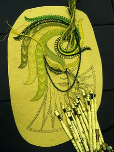 Masked lady in bobbin lace 137/365