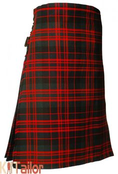 "10 Ladies Poly Blend /""Royal Stewart/"" Red Tartan Knee Length Kilt NWT"
