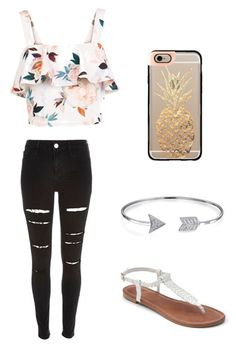 """""""Walk on the beach"""" by maddy-jennings on Polyvore featuring River Island, New Look, Apt. 9, Bling Jewelry and Casetify"""