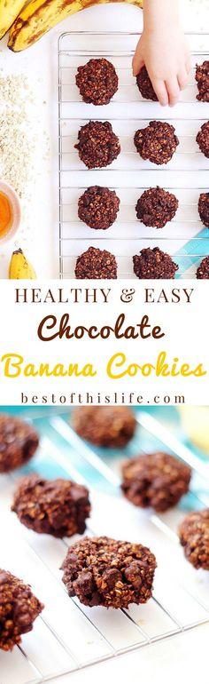 Healthy Banana Chocolate Cookies (Just 4 Ingredients!)
