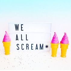 For ice cream!   #LIGHTBOX LOVE!!  I'm excited to introduce #lightboxes to the @sugarluxeshop! Bring your fun sayings clever phrases and cute quotes to life with this fun cinematic light box with changeable letters and symbols. We also have BONUS LETTER PACKS for special symbols. Perfect for your home #office or beauty room! Even the kitchen!  Get yours soon! Limited quantities! {:@mycinemalightbox} . . . #letters #letterpack #beautyroom #lifestyle #decor #vanity #homedecor  #interiordesign…