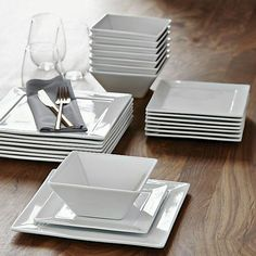 Find simple modern dinnerware at Our high-quality dishes elevate the look of your food. Choose from round square and geometric plates and bowls. & square dinner plates #LGLimitlessDesign u0026 #Contest | Kitchen ...