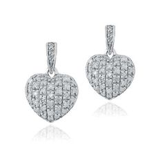 These uniquely-designed heart earrings sparkle with dazzling ethically mined white diamonds. The dangle earrings are crafted of lustrous 925 sterling silver. Bridal Jewelry, Jewelry Gifts, Unique Jewelry, Heart Earrings, Drop Earrings, Graduation Jewelry, Rose Gold Engagement, Champagne Diamond, Diamond Heart