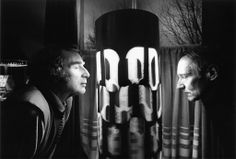 Charles Gatewood and William S. Burroughs,  Using the mysterious Brion Gysin Dream Machine. When Burroughs lived in the Beat Hotel, he had a Dream Machine locked in his room. It was a legend at the hotel.