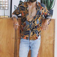 Cool Shirts, Casual Shirts, Men Street, Fashion Prints, Printed Shirts, Long Sleeve Shirts, Formal, Fashion Outfits, Mens Fashion
