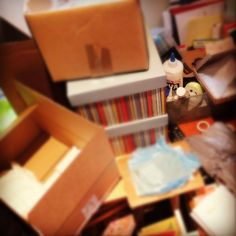 Chaos in the Box Office as the latest Boxcitement subscription box is put together