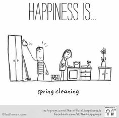 Although I don't particularly enjoy cleaning, the end results always make me happy - trouble is, once it's done and looking pristine, I don't want anyone to touch anything. Happiness Meaning, Finding Happiness, Make Me Happy, Are You Happy, Organization Quotes, Happy 2017, Motivational Quotes, Inspirational Quotes, Reasons To Be Happy