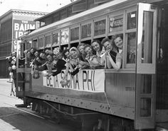 From the Archives: Packed streetcar hauls young businesswomen in town for Beta Sigma Phi convention