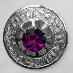 Amethyst Stone Brooches | Plaid Brooches