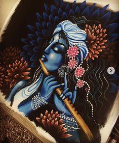 55 Ideas For Painting Acrylic Girl Canvas Ideas Kerala Mural Painting, India Painting, Indian Art Paintings, Indian Artwork, Wall Paintings, Painting Abstract, Shiva Art, Krishna Art, Hindu Art