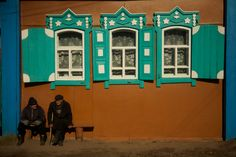 Villagers in Tarbagatai, an Old Believer village outside Ulan Ude. Siberia