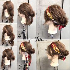 HAIR(ヘアー)はスタイリスト・モデルが発信するヘアスタイルを中心に、トレンド情報が集まるサイトです。20万枚以上のヘアスナップから髪型・ヘアアレンジをチェックしたり、ファッション・メイク・ネイル・恋愛の最新まとめが見つかります。 Headband Hairstyles, Pretty Hairstyles, Easy Hairstyles, Hair Scarf Styles, Curly Hair Styles, Hair Arrange, Aesthetic Hair, Hair Images, Hair Dos