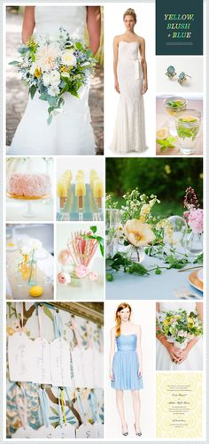 REVEL: Yellow, Blush + Blue Wedding Inspiration