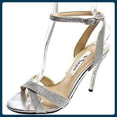 Nina Meryly Damen US 8.5 Silber Sandale - Sandalen für frauen (*Partner-Link)