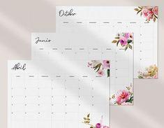 Erin Condren Monthly Planner, Bill Planner, Monthly Planner Template, Planner Layout, Weekly Planner, Happy Planner, Printable Planner, Printables, Free Calendars To Print
