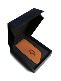 Wooden Accessories Company Wooden Tie Clips with Laser Engraved Diet Chart Design Cherry Wood Tie Bar Engraved in The USA