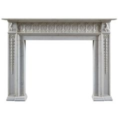Antique Neoclassical English Fireplace Mantle | From a unique collection of antique and modern fireplaces and mantels at http://www.1stdibs.com/furniture/building-garden/fireplaces-mantels/