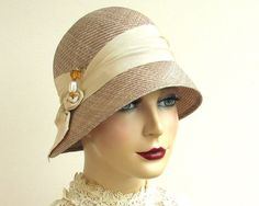 Straw Cloche Hat- Women- Spring Fashion. $220.00, via Etsy.