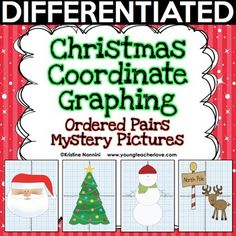Christmas Coordinate Graphing Mystery Pictures - Your 4th, 5th, 6th, 7th, 8th, and 9th grade classroom or homeschool students will love working on these fun winter pictures while also learning necessary math skills. Three options to ensure differentiation are included. Click through to get more details and grab these to use in December in your classroom! {fourth, fifth, sixth graders, middle & high school, math) #YoungTeacherLove #ChristmasCoordinateGraphing #Christmas