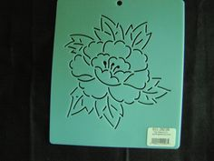 Sashiko Japanese Embroidery Stencil 6 in. Asian Peony Flower/Quilting by KimonoBoro on Etsy