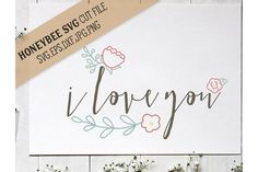 I Love You Simple Floral from DesignBundles.net