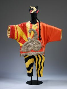 Pablo Picasso Costume for the Chinese Conjuror from Parade, c. 1917 silk satin fabric with silver tissue and black thread, cotton hat with woolen pigtail. Victoria and Albert Museum, London. Theatre Costumes, Ballet Costumes, Movie Costumes, Fancy Costumes, Vintage Costumes, Matisse, Pablo Picasso, Costume Ethnique, Russian Ballet