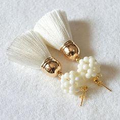 Custom borla pendiente pendiente de la borla de lujo Boho