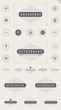 25 luxury ornaments logos & monogram by Vasya Kobelev on @creativemarket